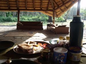Abendessen im Camp