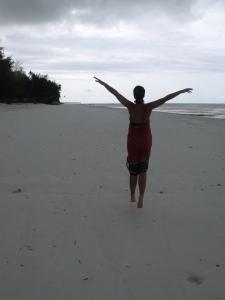 Strandspaziergang mit Kanga
