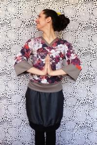 rock und kimonooberteil