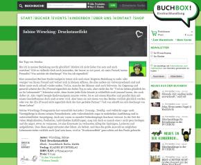 """Jessika von der Berliner BUCHBOX! rezensiert den """"Druckstaueffekt""""."""